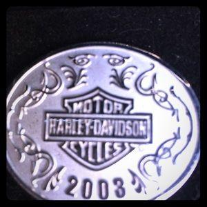 Harley Davidson 100th year collectors pin.